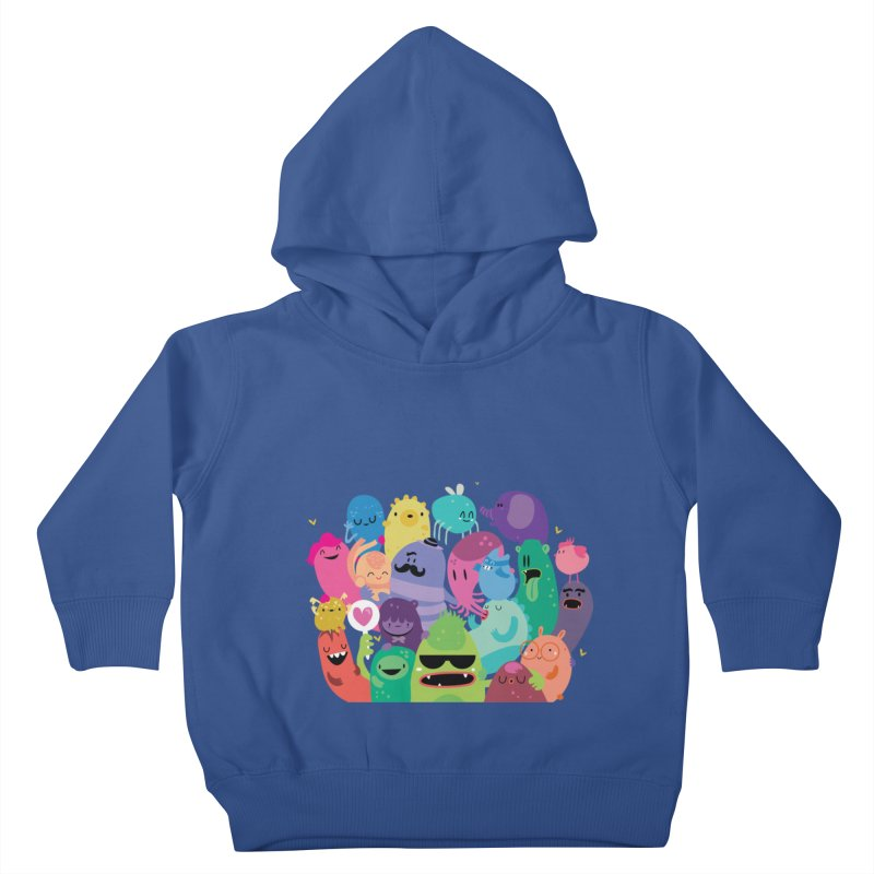 Monster reunion Kids Toddler Pullover Hoody by Maria Jose Da Luz