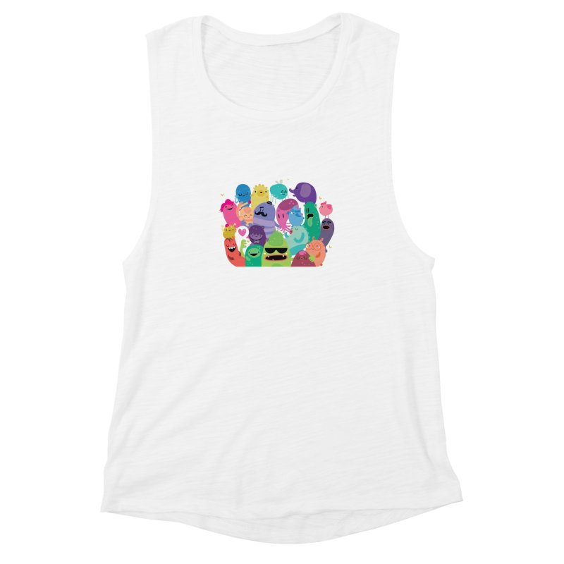 Monster reunion Women's Muscle Tank by Maria Jose Da Luz