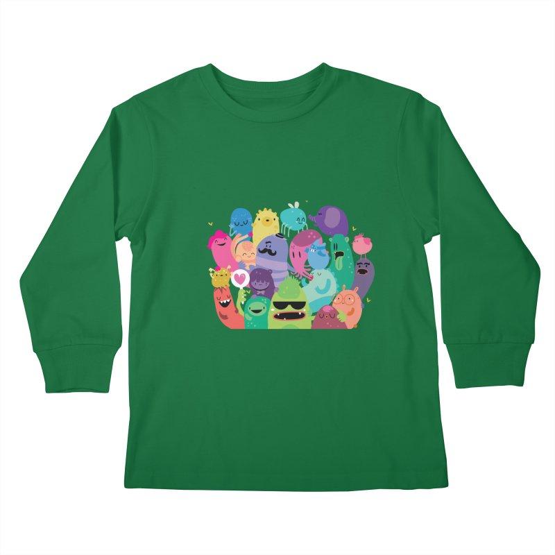 Monster reunion Kids Longsleeve T-Shirt by Maria Jose Da Luz