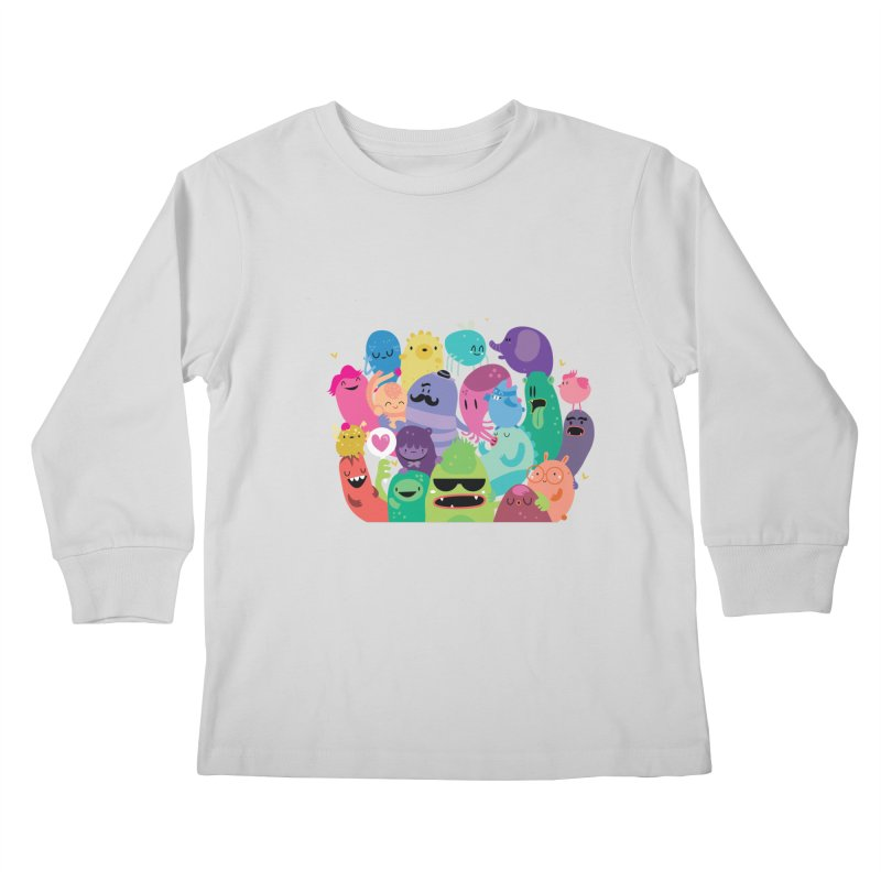 Monster reunion Kids Longsleeve T-Shirt by Maria Jose Da Luz