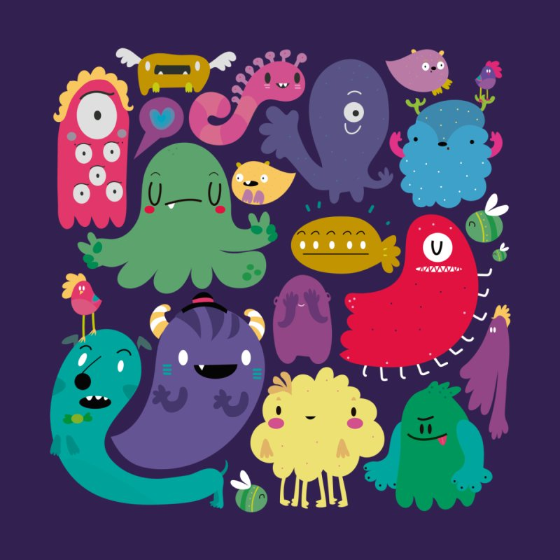 Colorful creatures Kids T-shirt by Maria Jose Da Luz