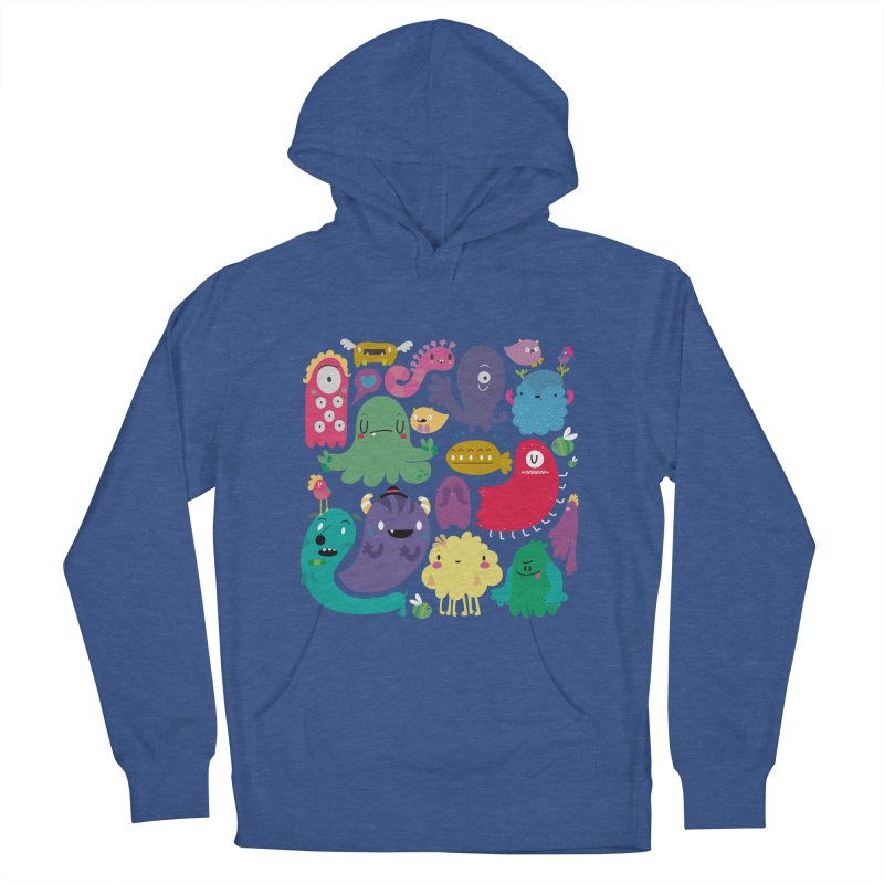 Colorful creatures Men's Pullover Hoody by Maria Jose Da Luz