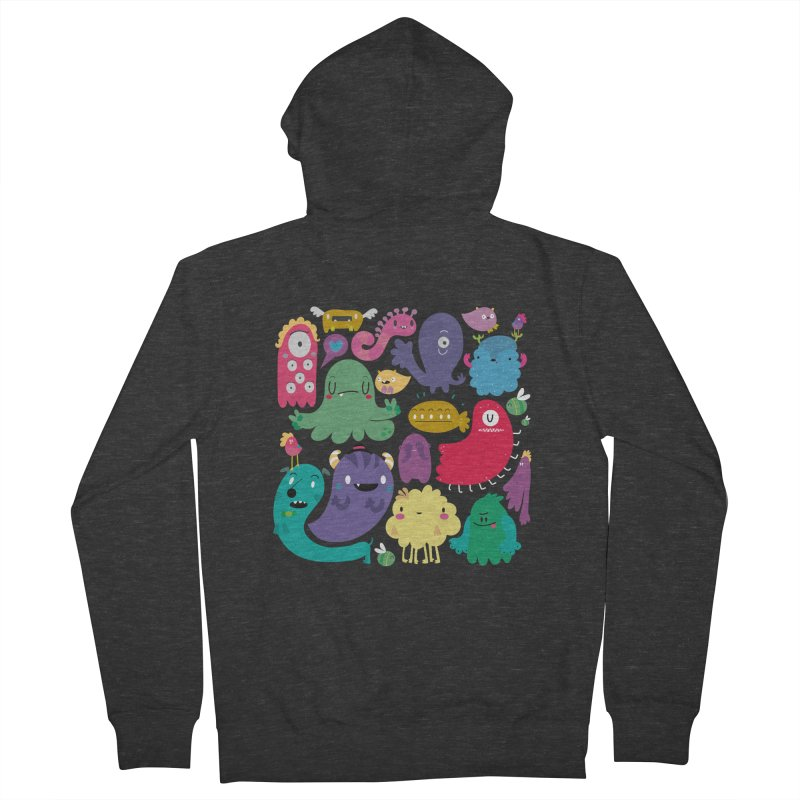 Colorful creatures Women's Zip-Up Hoody by Maria Jose Da Luz