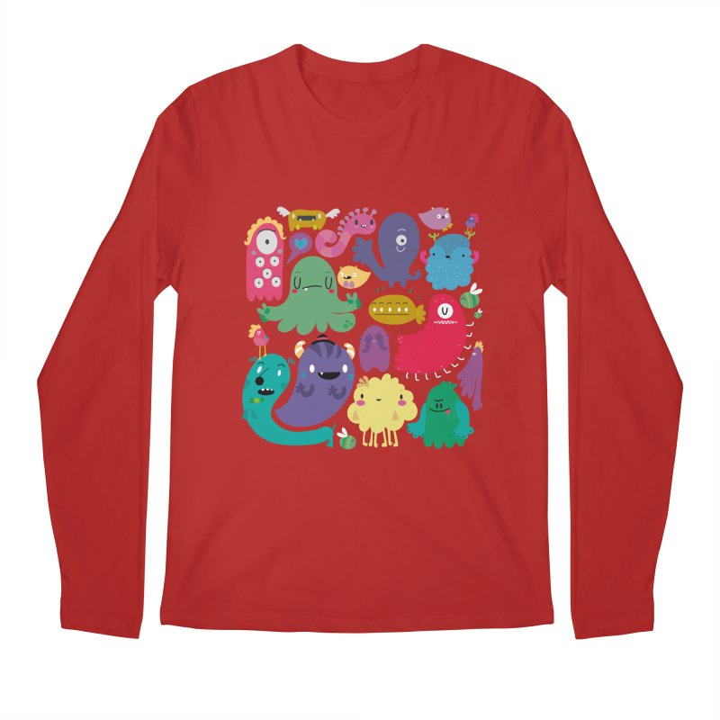 Colorful creatures Men's Longsleeve T-Shirt by Maria Jose Da Luz