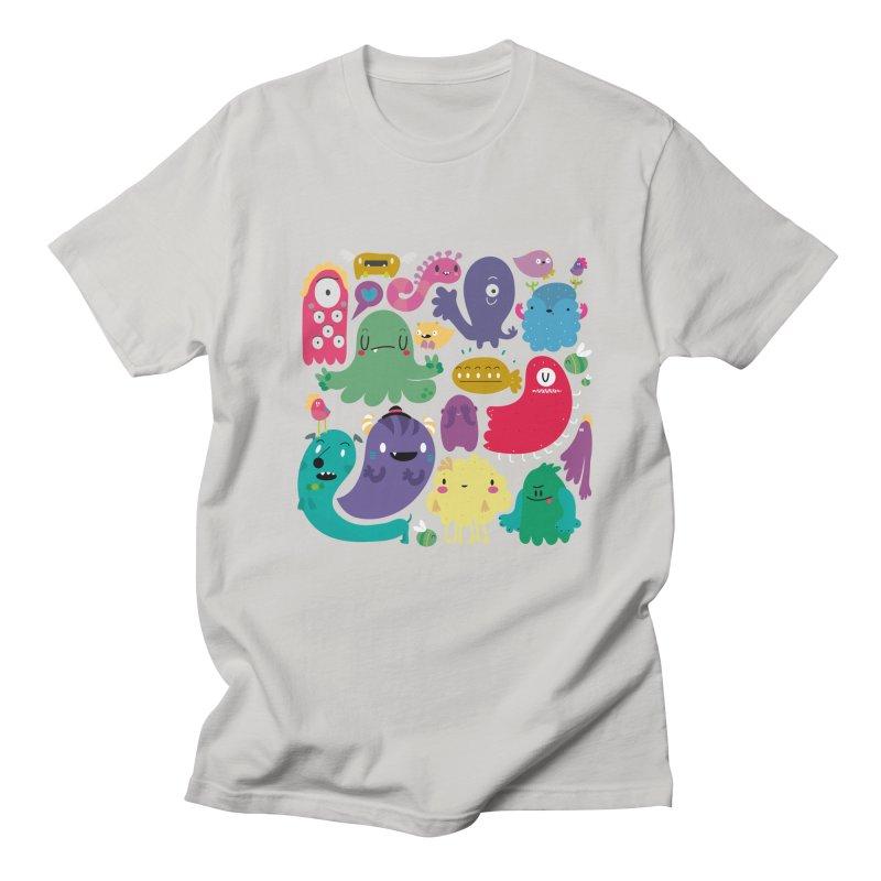 Colorful creatures Men's T-shirt by Maria Jose Da Luz