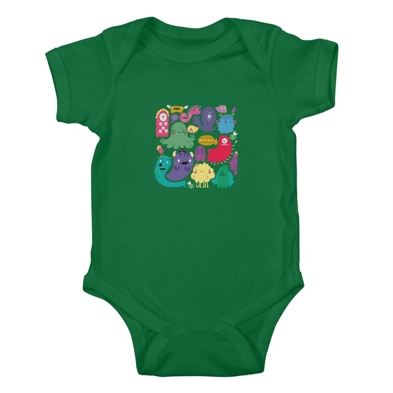 Colorful creatures Kids Baby Bodysuit by Maria Jose Da Luz