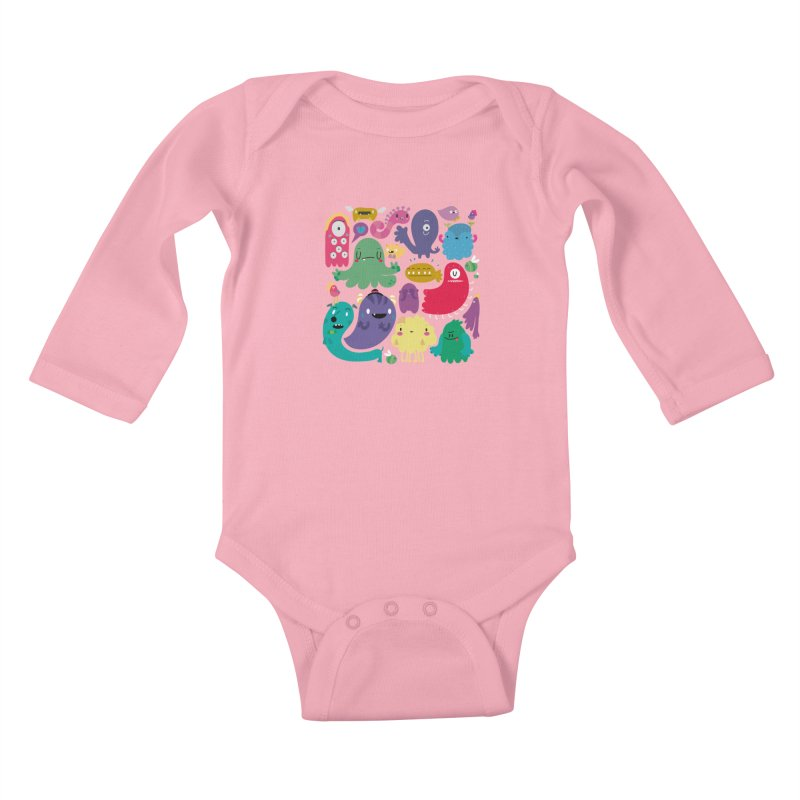 Colorful creatures Kids Baby Longsleeve Bodysuit by Maria Jose Da Luz