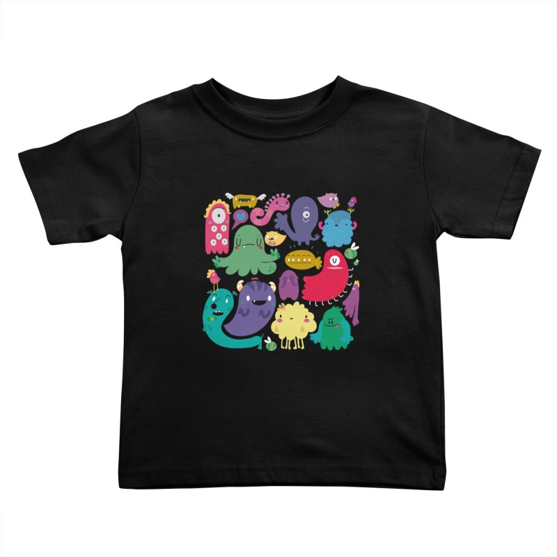 Colorful creatures Kids Toddler T-Shirt by Maria Jose Da Luz