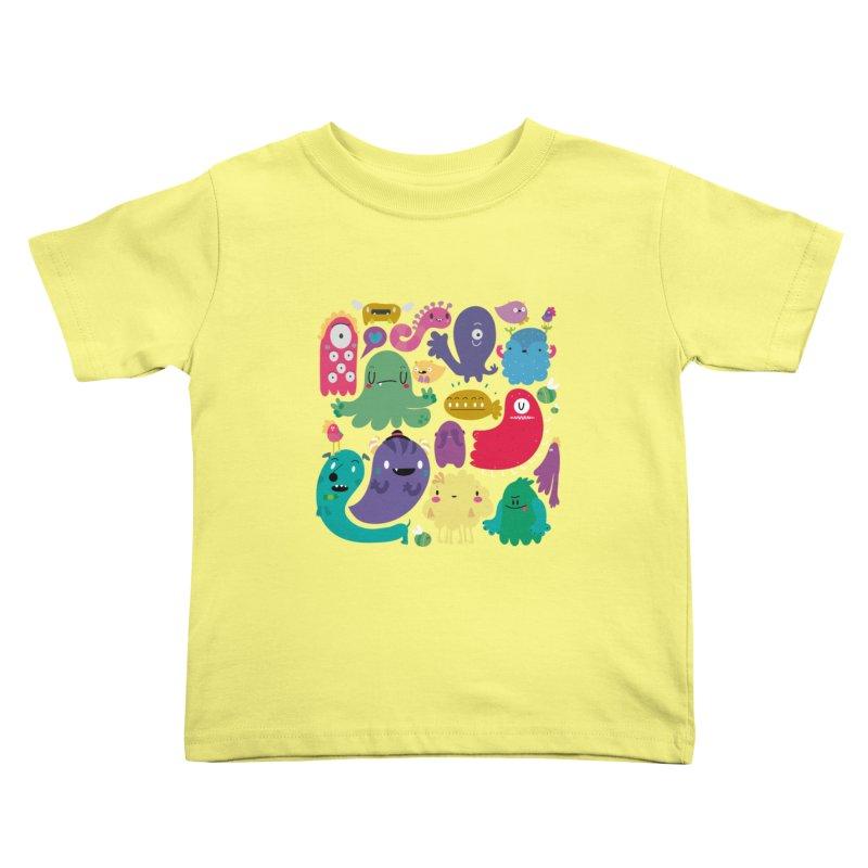 Colorful creatures Kids Toddler T-Shirt by Maria Jose Da Luz