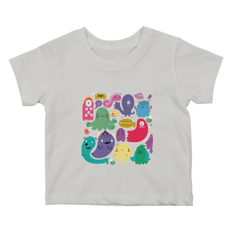 Colorful creatures Kids Baby T-Shirt by Maria Jose Da Luz