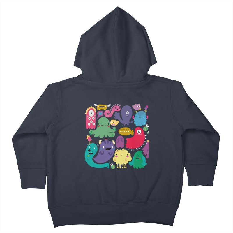 Colorful creatures Kids Toddler Zip-Up Hoody by Maria Jose Da Luz