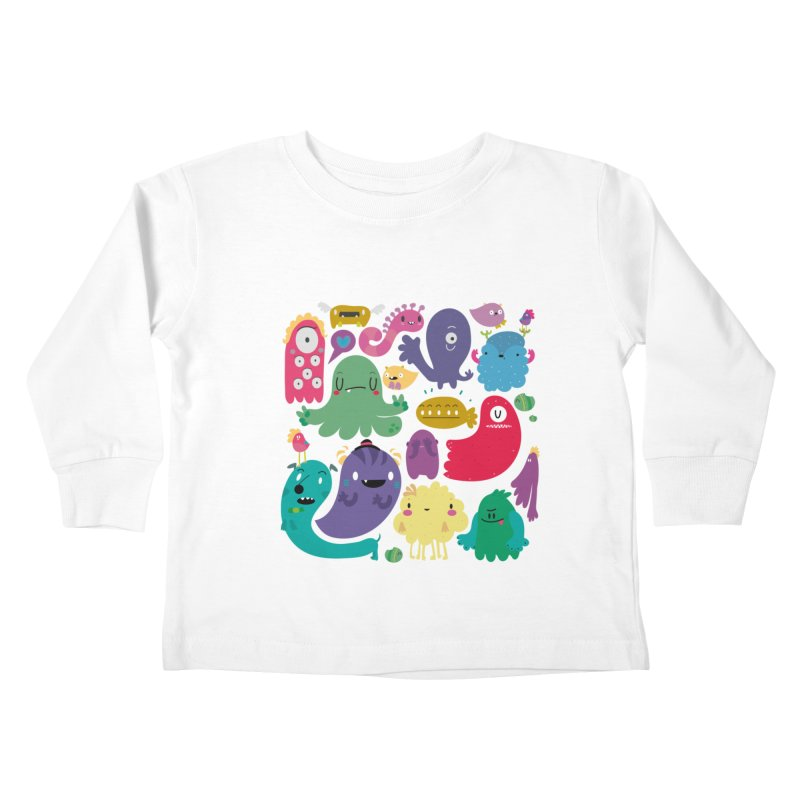 Colorful creatures Kids Toddler Longsleeve T-Shirt by Maria Jose Da Luz