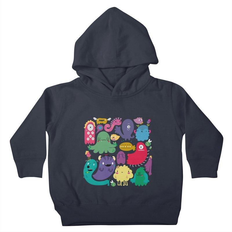 Colorful creatures Kids Toddler Pullover Hoody by Maria Jose Da Luz