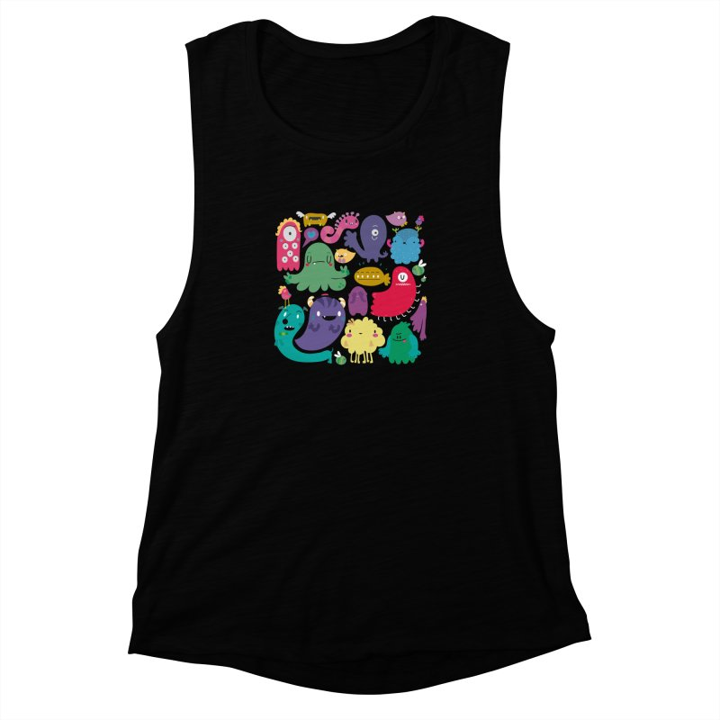 Colorful creatures Women's Muscle Tank by Maria Jose Da Luz