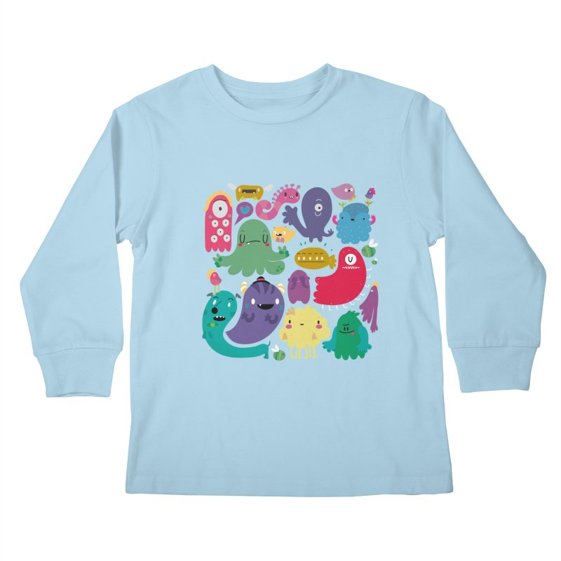 Colorful creatures Kids Longsleeve T-Shirt by Maria Jose Da Luz