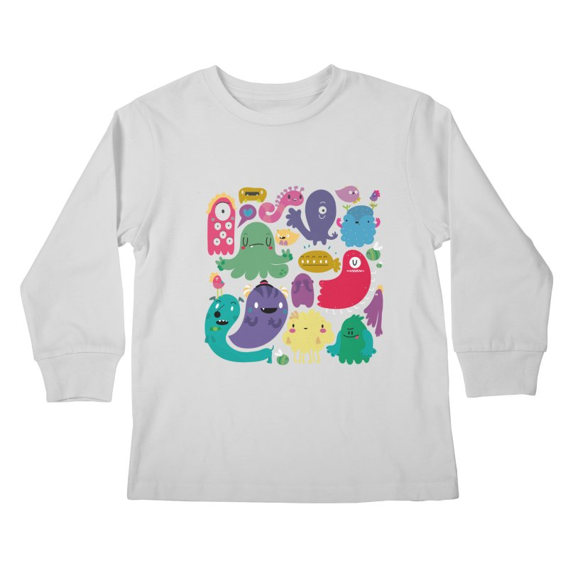 Colorful creatures Kids Longsleeve T-Shirt by Maria Jose Da Luz