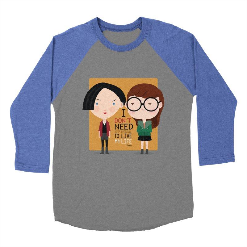 Daria  Women's Baseball Triblend T-Shirt by Maria Jose Da Luz