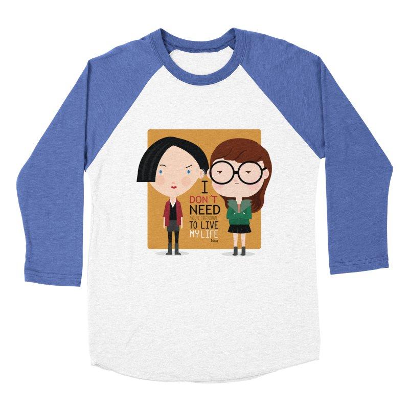Daria  Men's Baseball Triblend T-Shirt by Maria Jose Da Luz