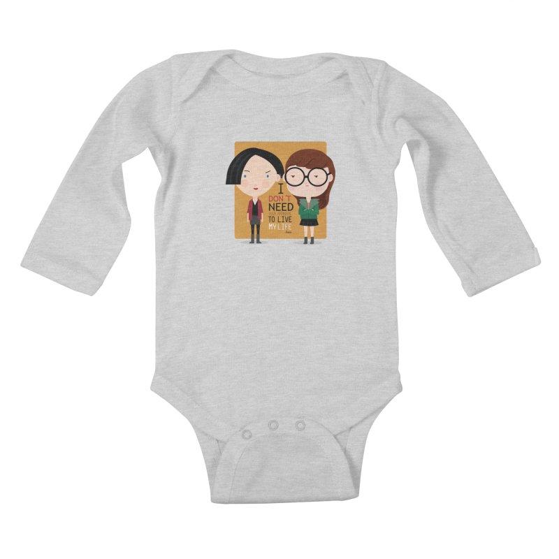 Daria  Kids Baby Longsleeve Bodysuit by Maria Jose Da Luz