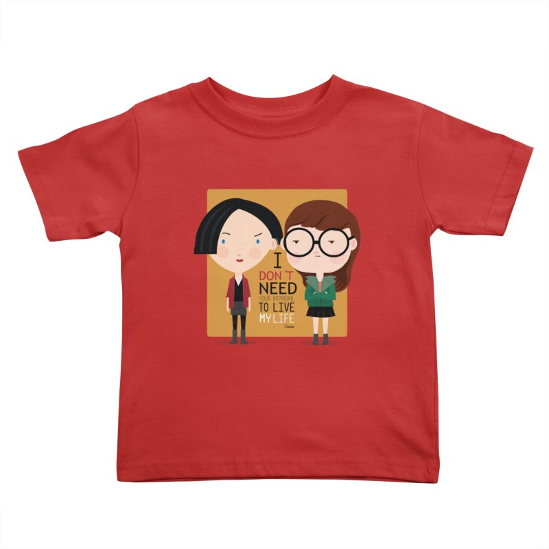 Daria  Kids Toddler T-Shirt by Maria Jose Da Luz