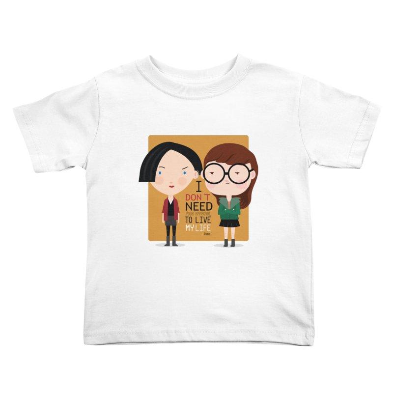 Daria  Kids Toddler T-Shirt by Maria Jose Da Luz