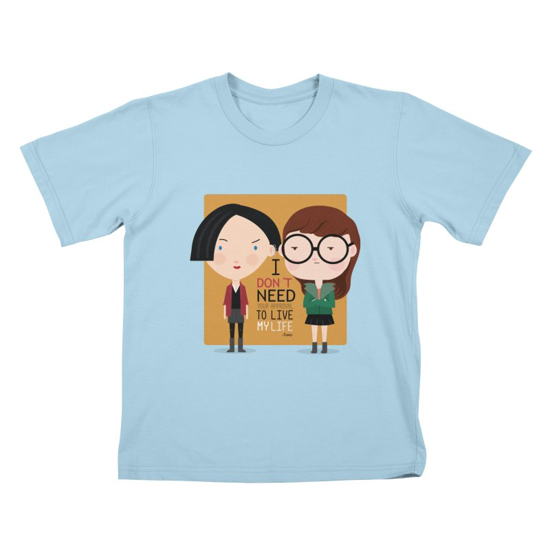 Daria  Kids T-Shirt by Maria Jose Da Luz