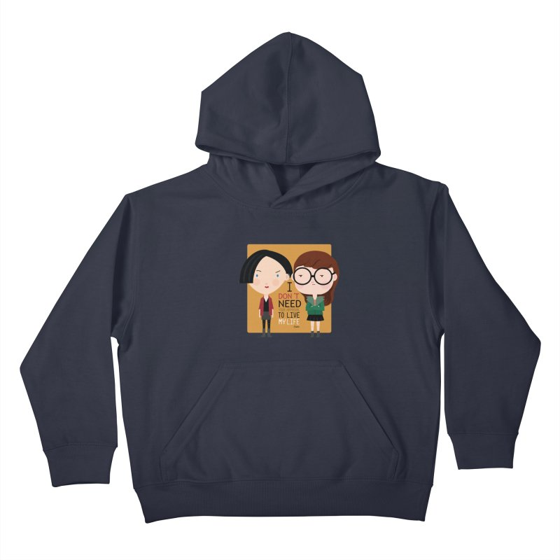 Daria  Kids Pullover Hoody by Maria Jose Da Luz