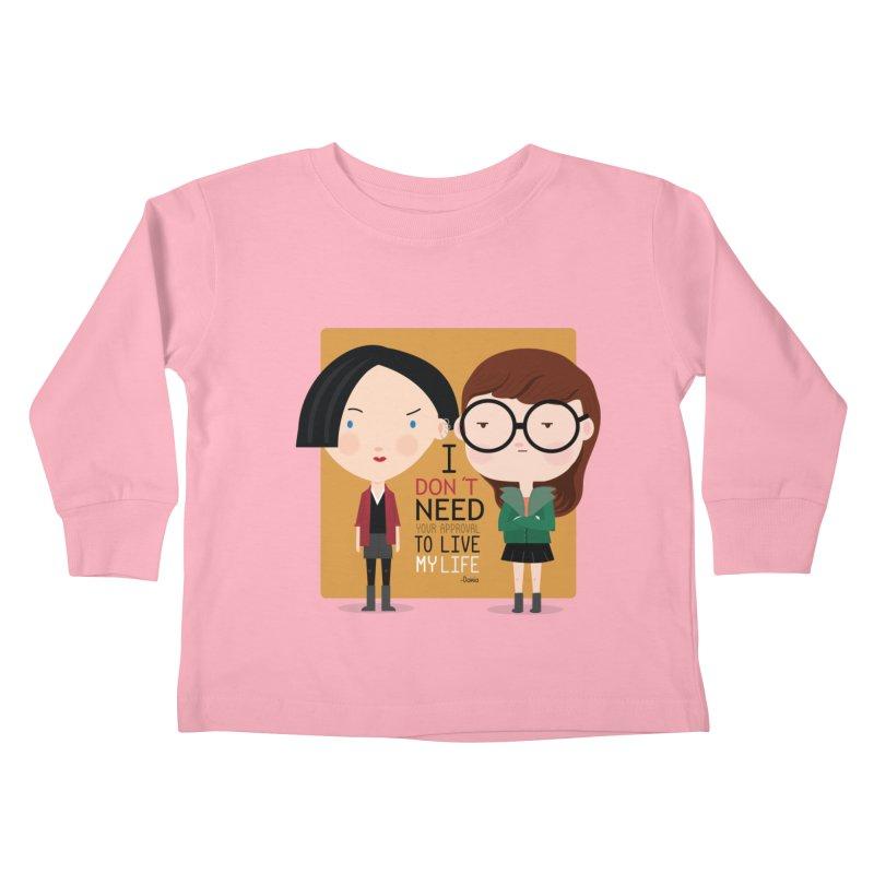 Daria  Kids Toddler Longsleeve T-Shirt by Maria Jose Da Luz