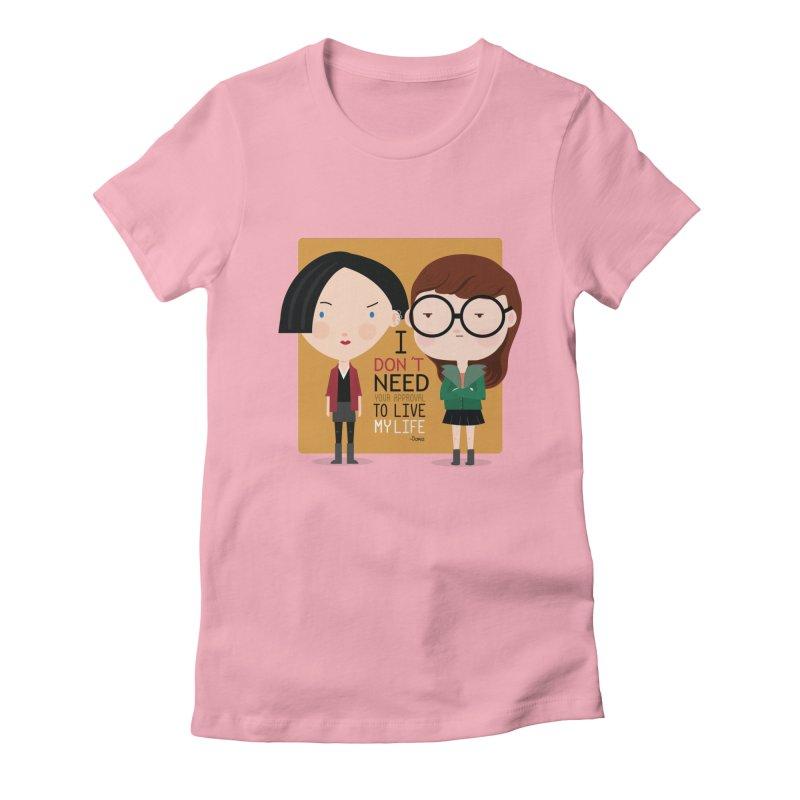 Daria  Women's Fitted T-Shirt by Maria Jose Da Luz