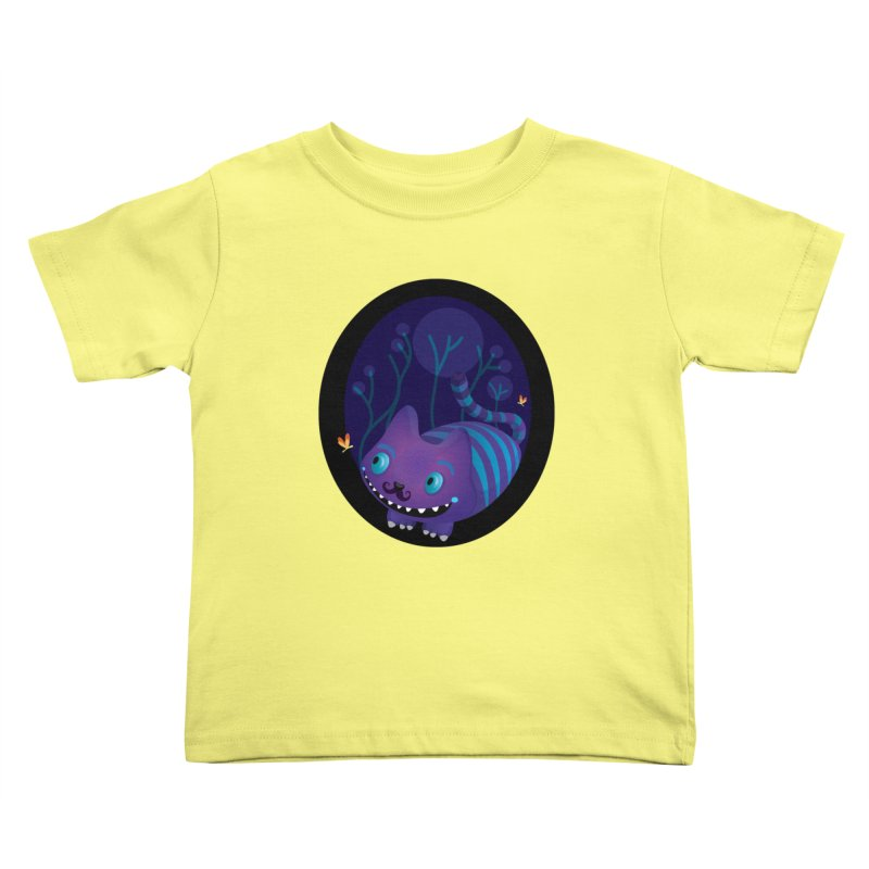 Mustache cheshire Kids Toddler T-Shirt by Maria Jose Da Luz