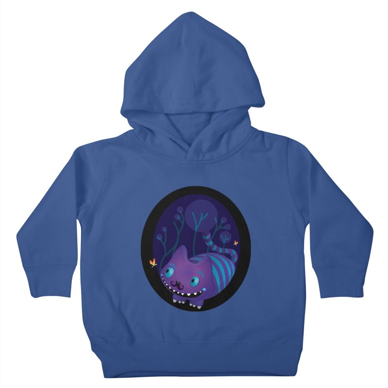 Mustache cheshire Kids Toddler Pullover Hoody by Maria Jose Da Luz