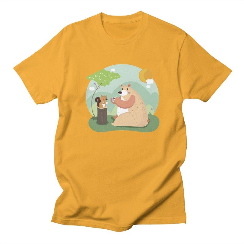 Tea time Men's T-shirt by Maria Jose Da Luz