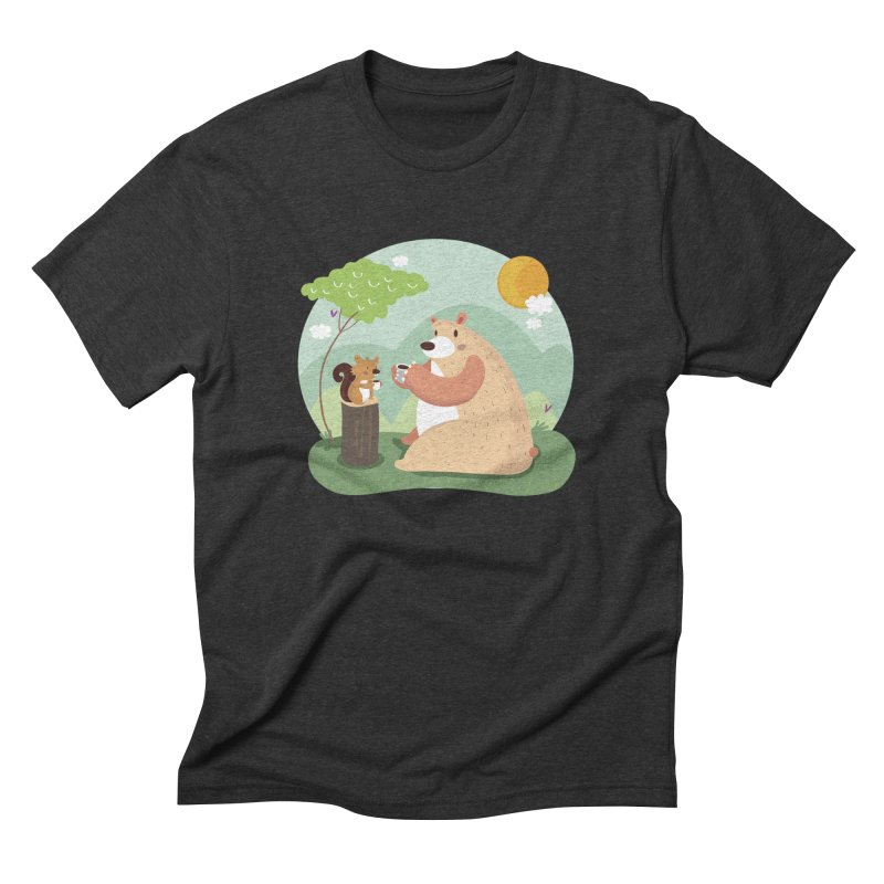 Tea time Men's Triblend T-Shirt by Maria Jose Da Luz