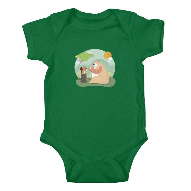 Tea time Kids Baby Bodysuit by Maria Jose Da Luz