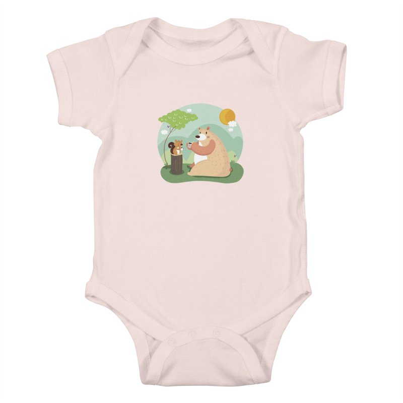 Tea time Kids Baby Bodysuit by Maria Jose Da Luz