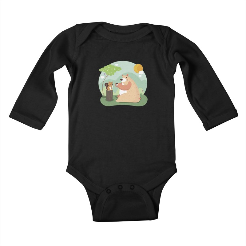 Tea time Kids Baby Longsleeve Bodysuit by Maria Jose Da Luz
