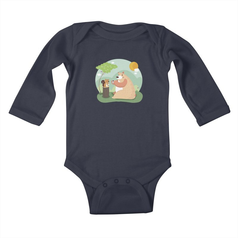 Tea time Kids Baby Longsleeve Bodysuit by Maria Jose Da Luz
