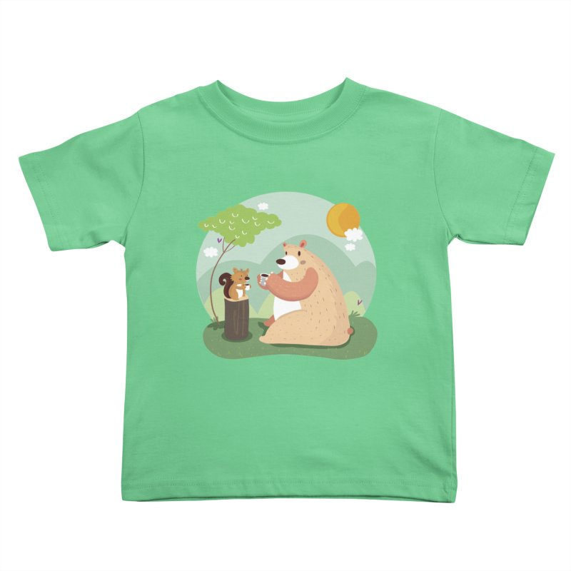 Tea time Kids Toddler T-Shirt by Maria Jose Da Luz