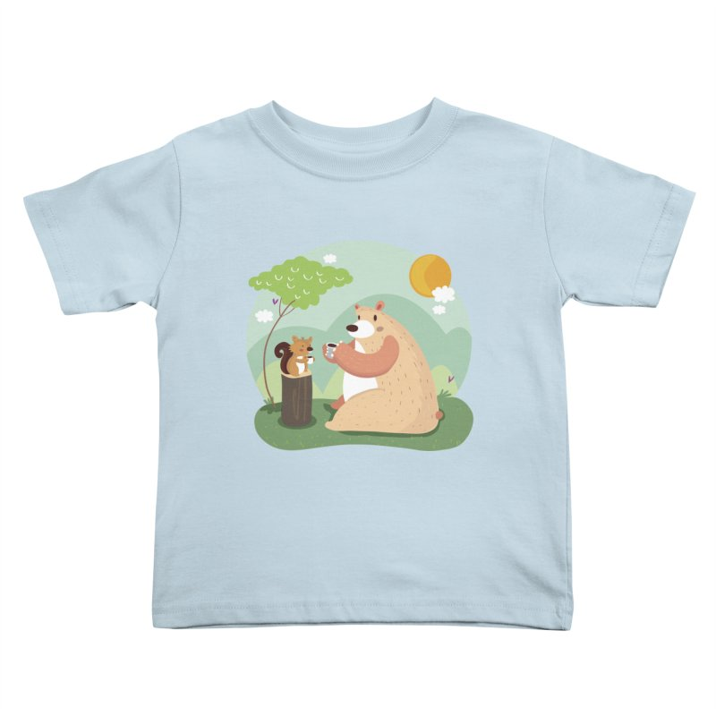 Tea time Kids Toddler T-Shirt by Maria Jose Da Luz