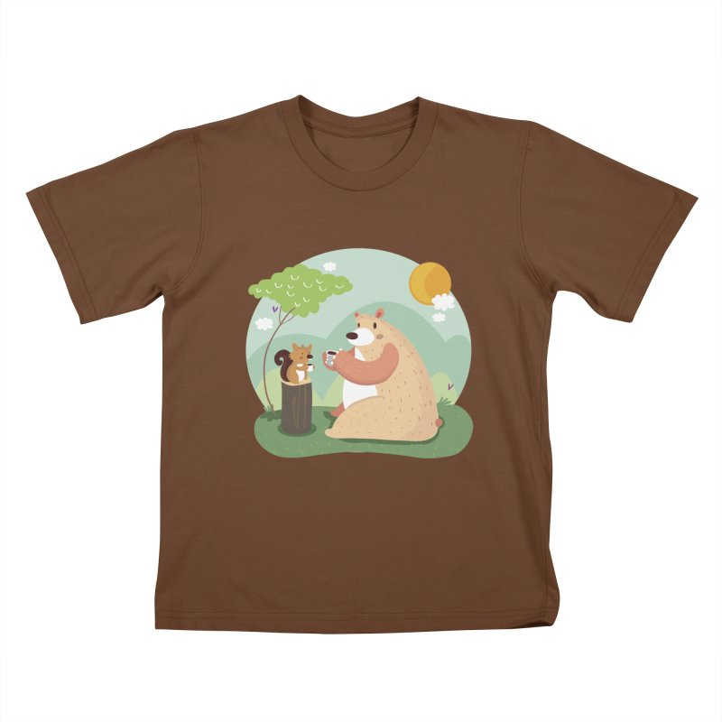 Tea time Kids T-Shirt by Maria Jose Da Luz