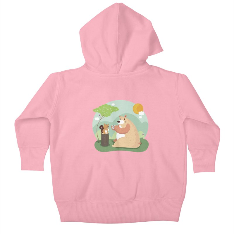 Tea time Kids Baby Zip-Up Hoody by Maria Jose Da Luz