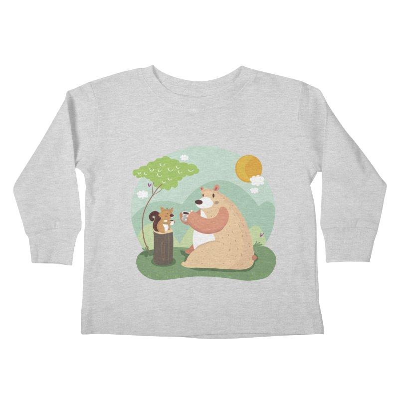 Tea time Kids Toddler Longsleeve T-Shirt by Maria Jose Da Luz