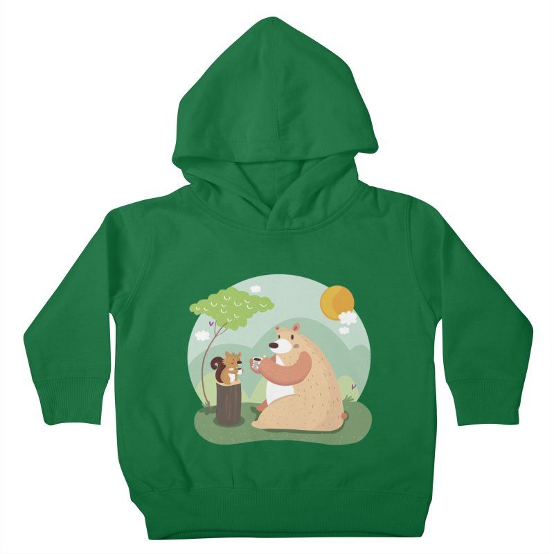 Tea time Kids Toddler Pullover Hoody by Maria Jose Da Luz