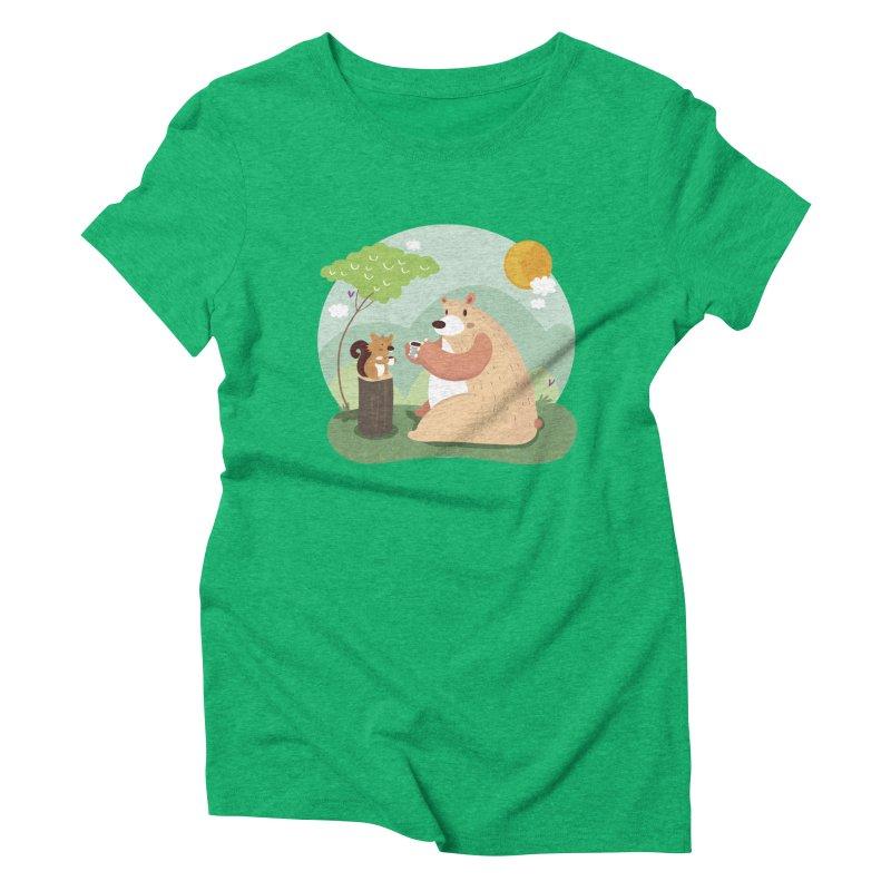 Tea time Women's Triblend T-Shirt by Maria Jose Da Luz