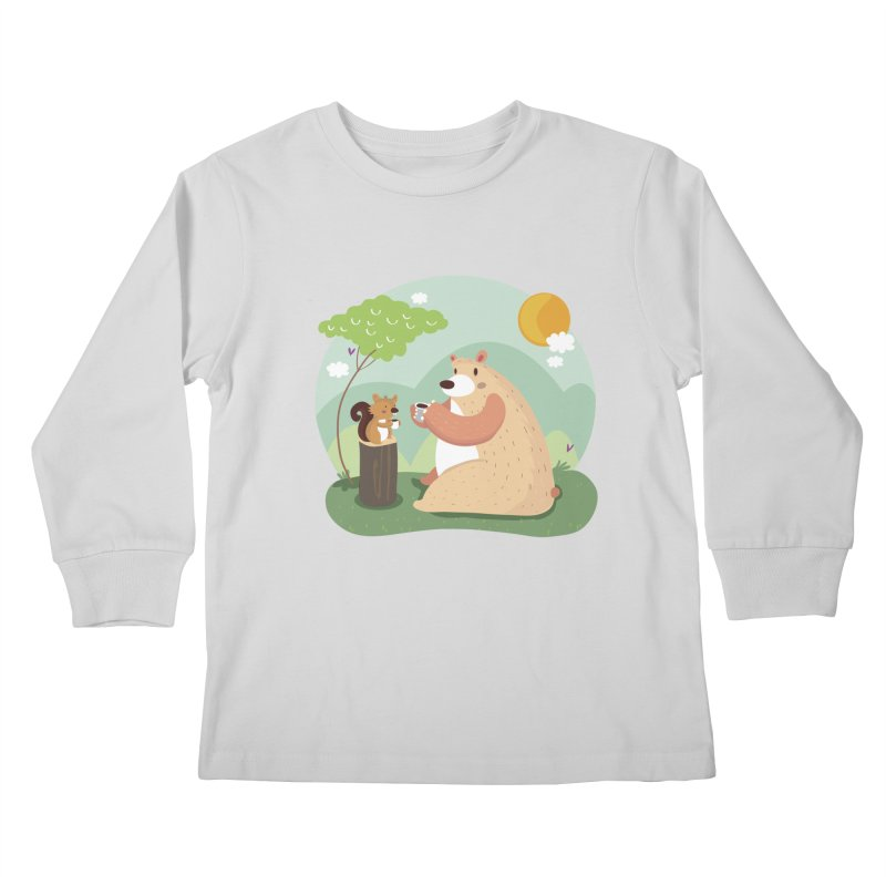 Tea time Kids Longsleeve T-Shirt by Maria Jose Da Luz