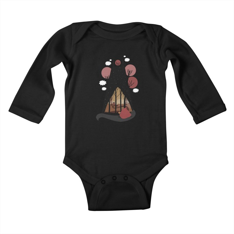 Into the woods Kids Baby Longsleeve Bodysuit by Maria Jose Da Luz