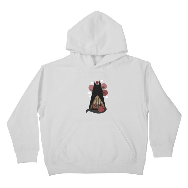 Into the woods Kids Pullover Hoody by Maria Jose Da Luz