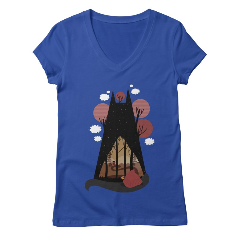 Into the woods Women's V-Neck by Maria Jose Da Luz