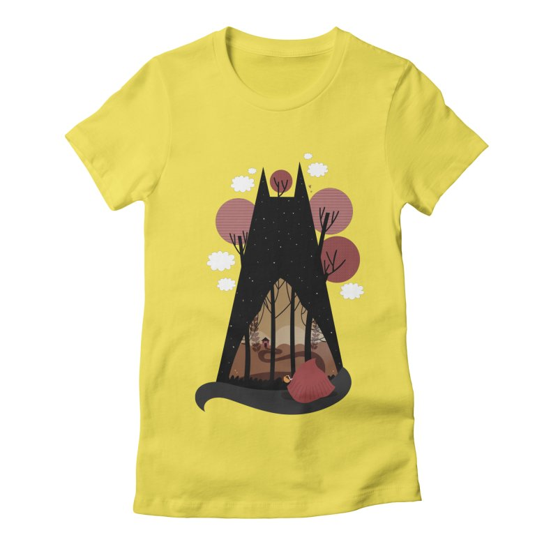Into the woods Women's Fitted T-Shirt by Maria Jose Da Luz