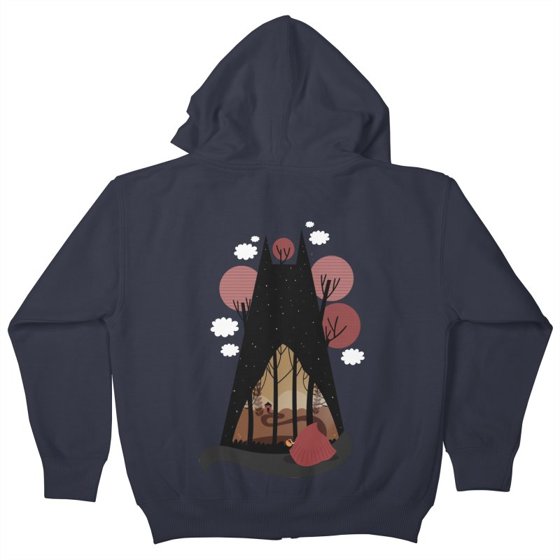 Into the woods Kids Zip-Up Hoody by Maria Jose Da Luz